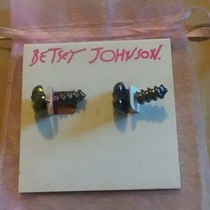 Betsy Johnson front & Back earrings